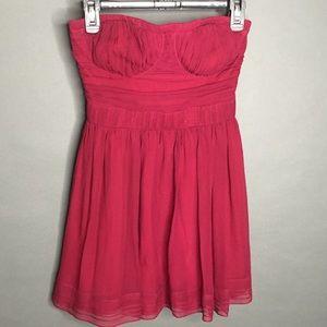 Mark James Badgley Mischka Maroon Strapless Dress
